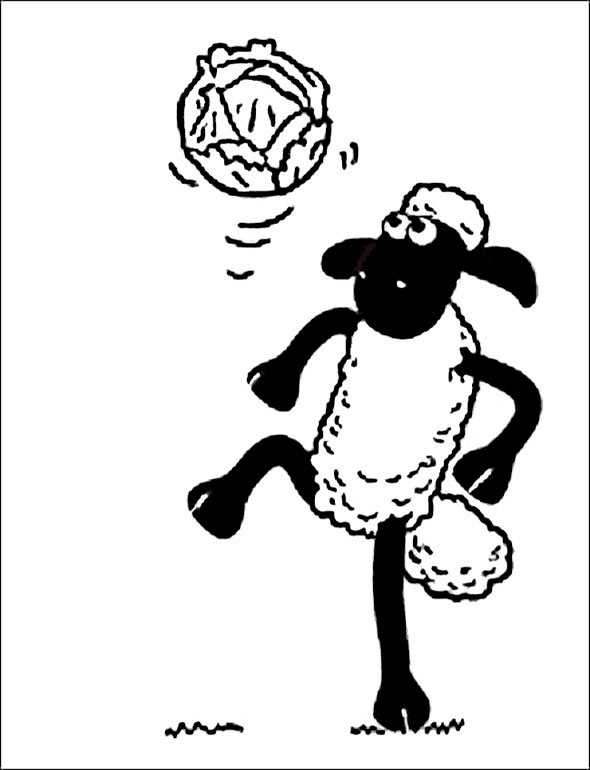 Shaun das Schaf 5 zum malen