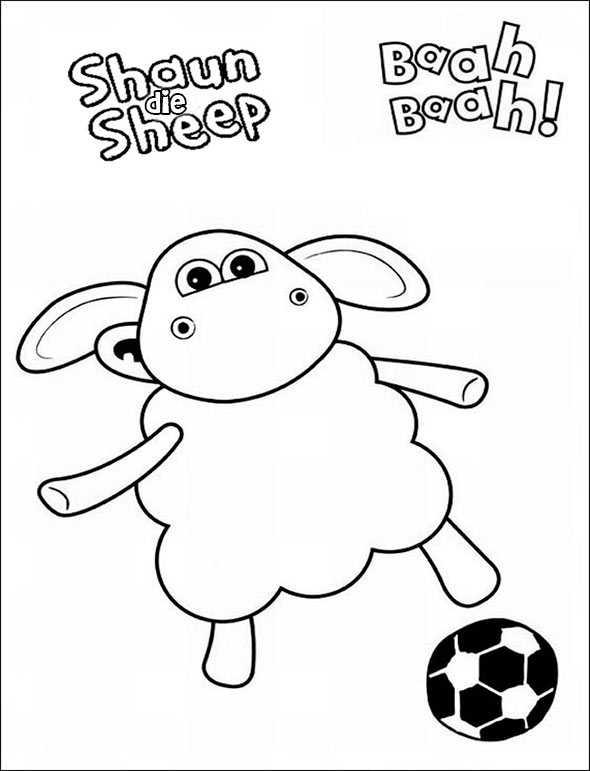 Shaun das Schaf 6 zum malen