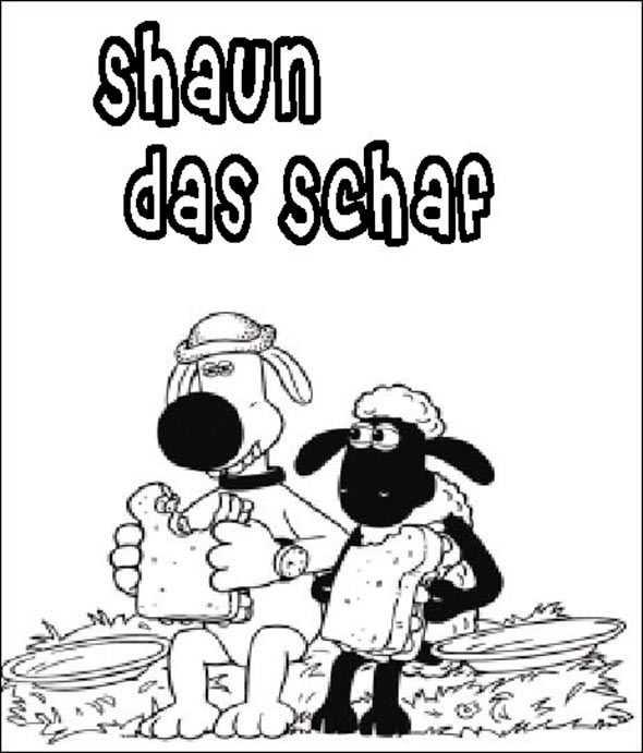 Shaun das Schaf 8 zum malen