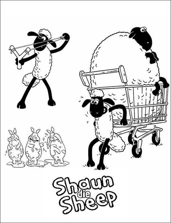 Shaun das Schaf 9 zum malen