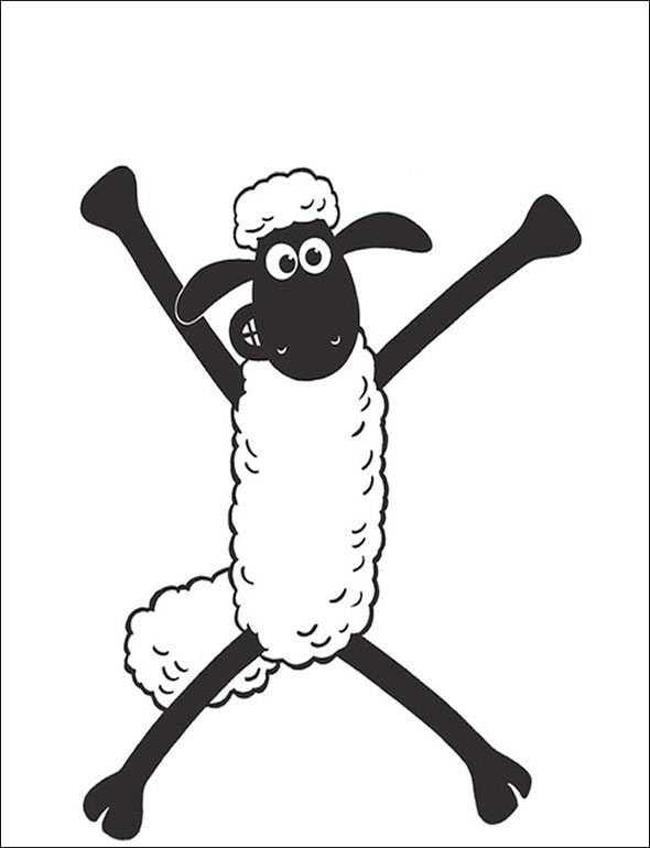 Shaun das Schaf 12 zum malen