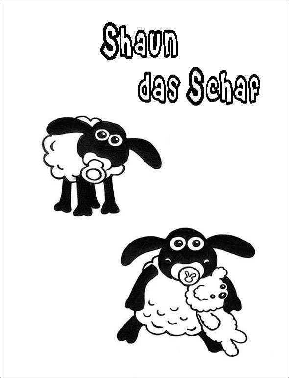 Shaun das Schaf 13 zum malen