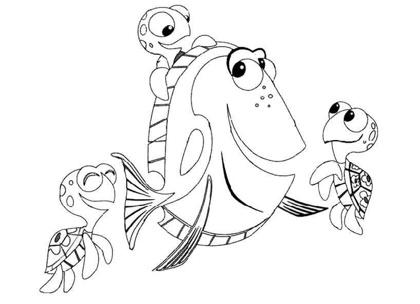 ausmalbilder fische 8
