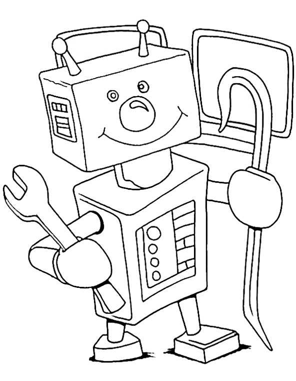 ausmalbilder roboter (1)