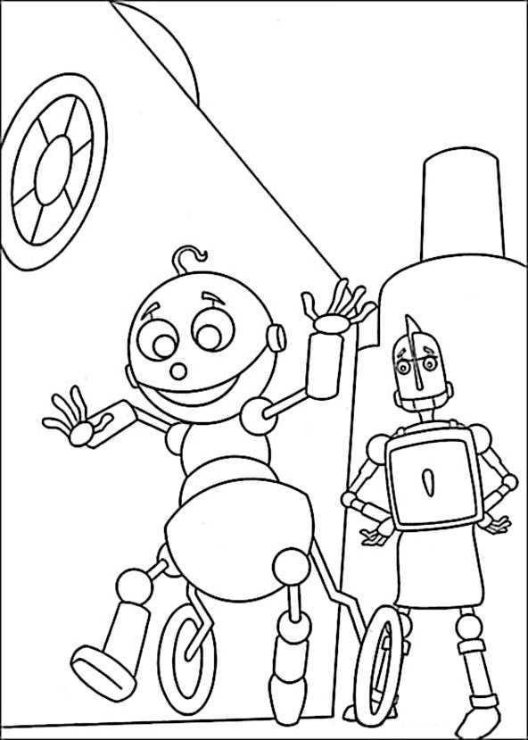 ausmalbilder robots 17