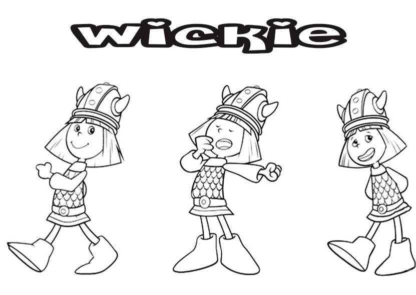 ausmalbilder wickie 14