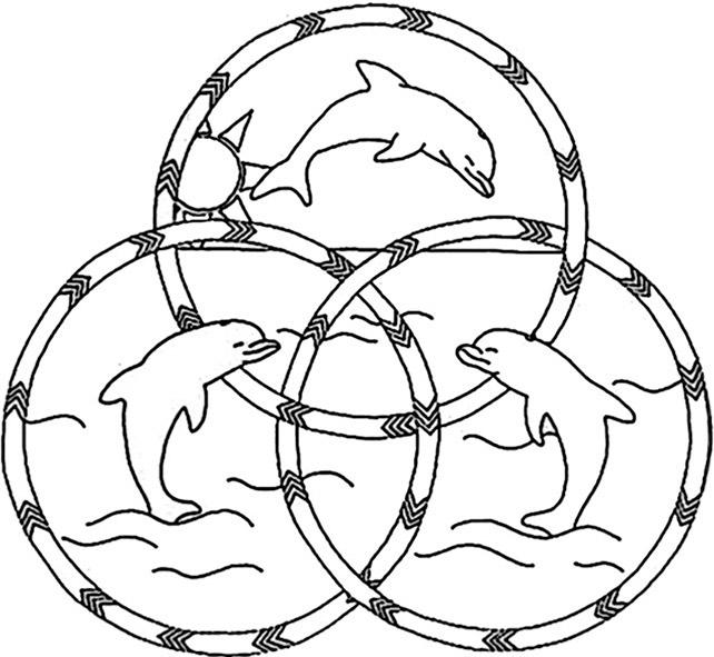 mandala mit delfine zum ausdrucken