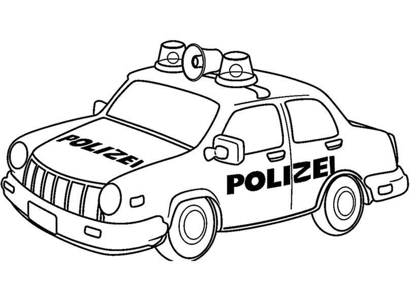 Polizeiwagen 2 zum ausmalen