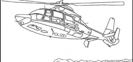 Hubschrauber Polizei zum ausmalen