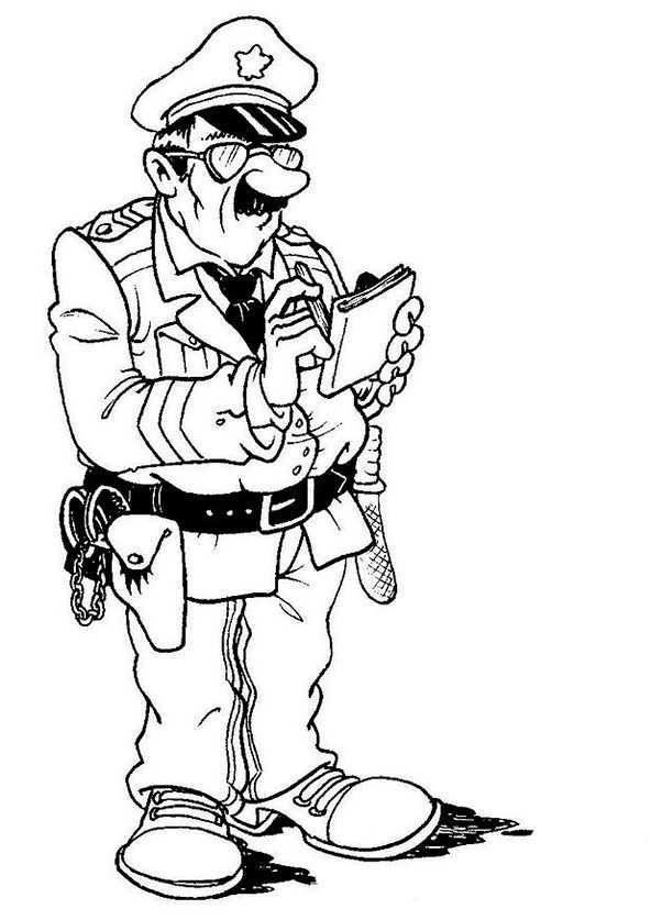 polizei 8 zum ausmalen