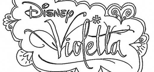 Logo Violetta ausmalbilder