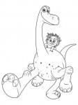 ausmalbilder kostenlos Der Gute Dinosaurier Arlo und Spot
