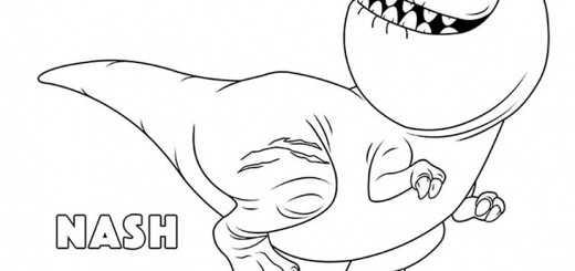 Ausmalbilder kostenlos Der Gute Dinosaurier Nash