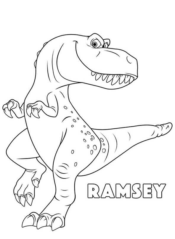Ausmalbilder kostenlos Der Gute Dinosaurier, Ramsey