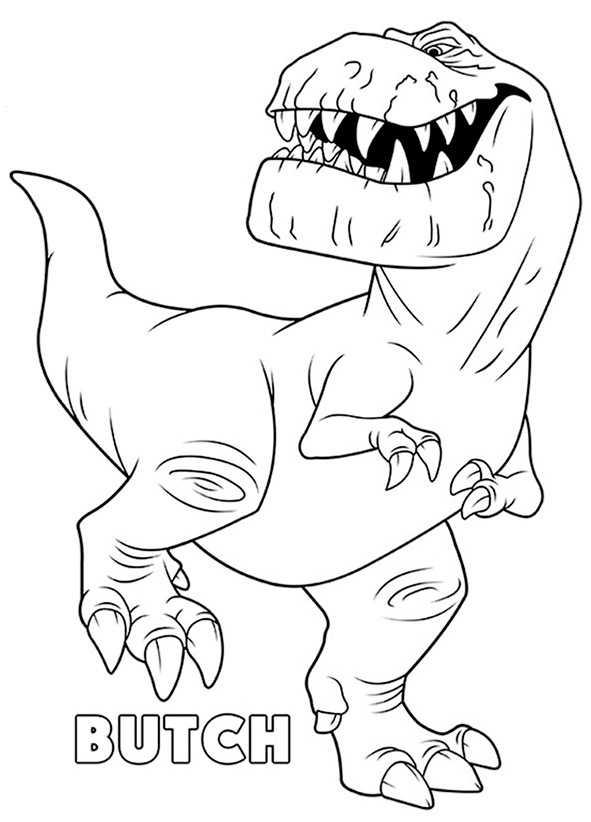 Ausmalbilder kostenlos Der Gute Dinosaurier Butch