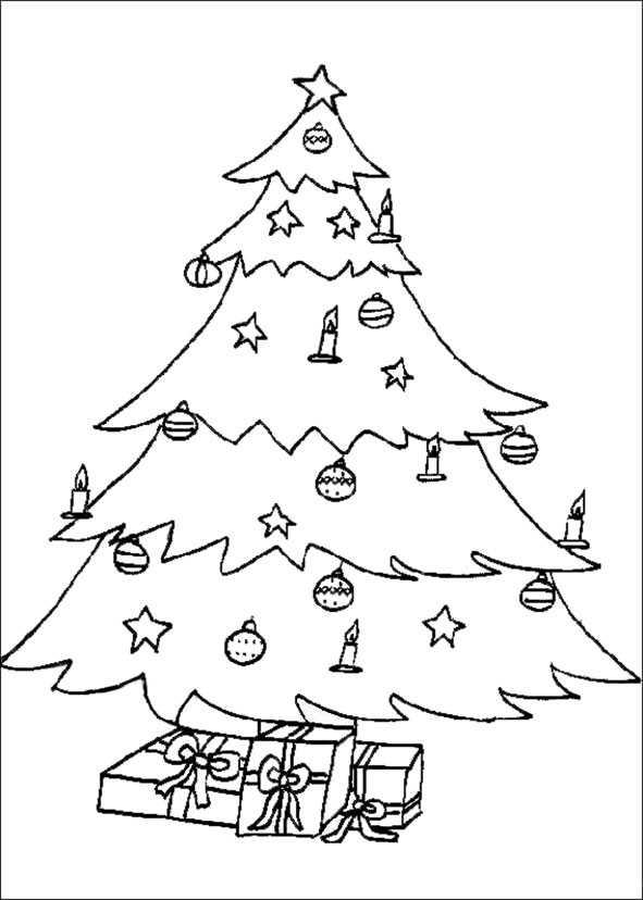 Weihnachtsbaum zum ausmalen 50