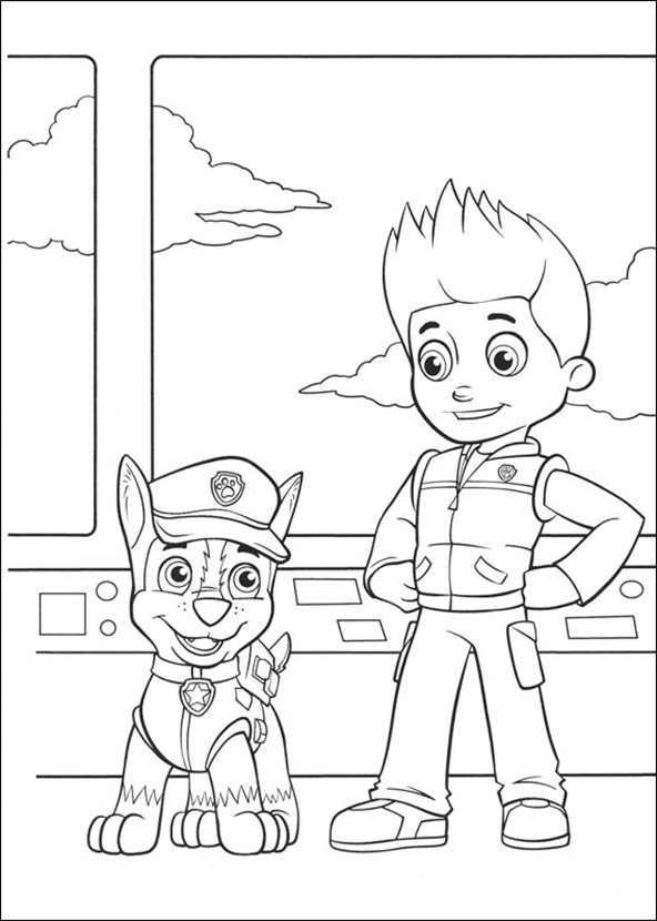 Chey Ninjago Kleurplaat Paw Patrol 2 Ausmalbilder Kostenlos