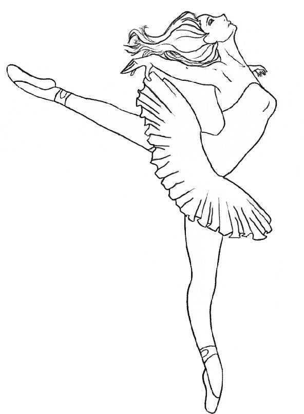 ballett 6  ausmalbilder kostenlos