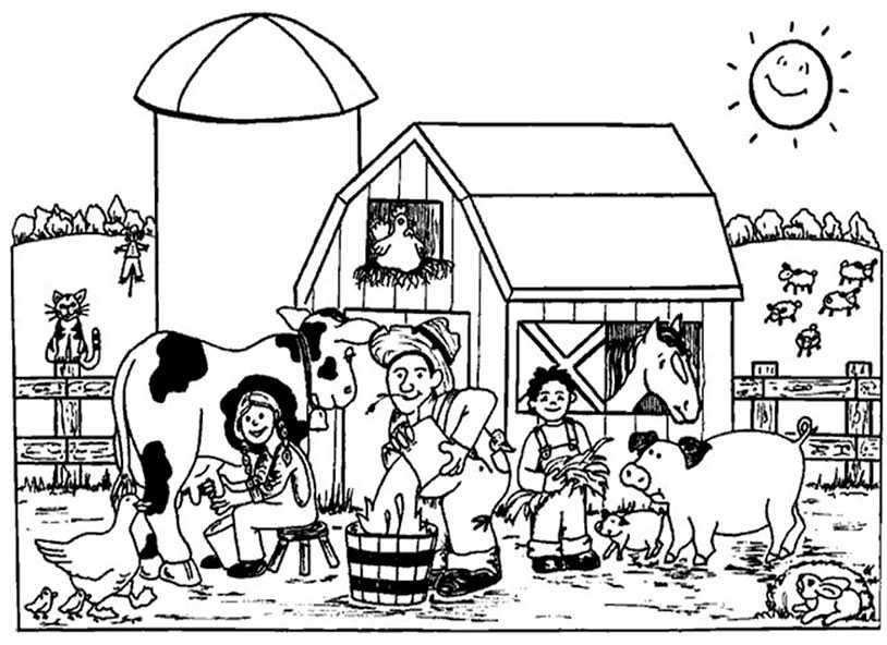 Bild Bauernhof zum ausmalen
