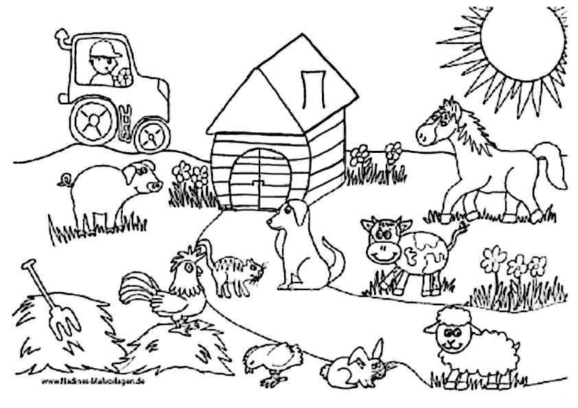 Ausmalbilder Bauernhof (3)