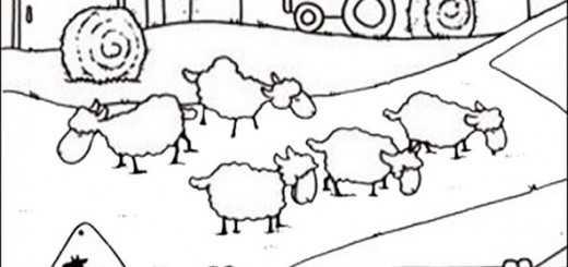 Bilder zum ausmalen Bauernhof (5)