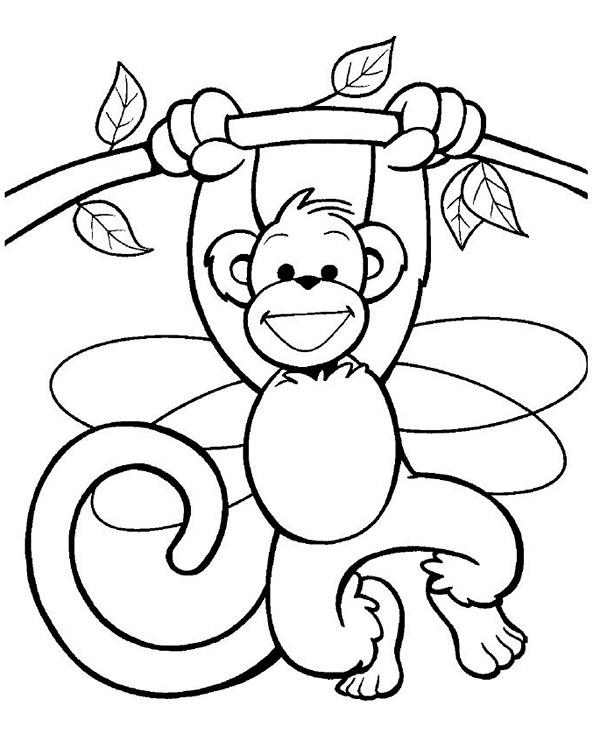 Bilder zum ausmalen Affe 4