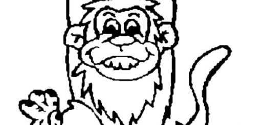 ausmalbild Affe (5)