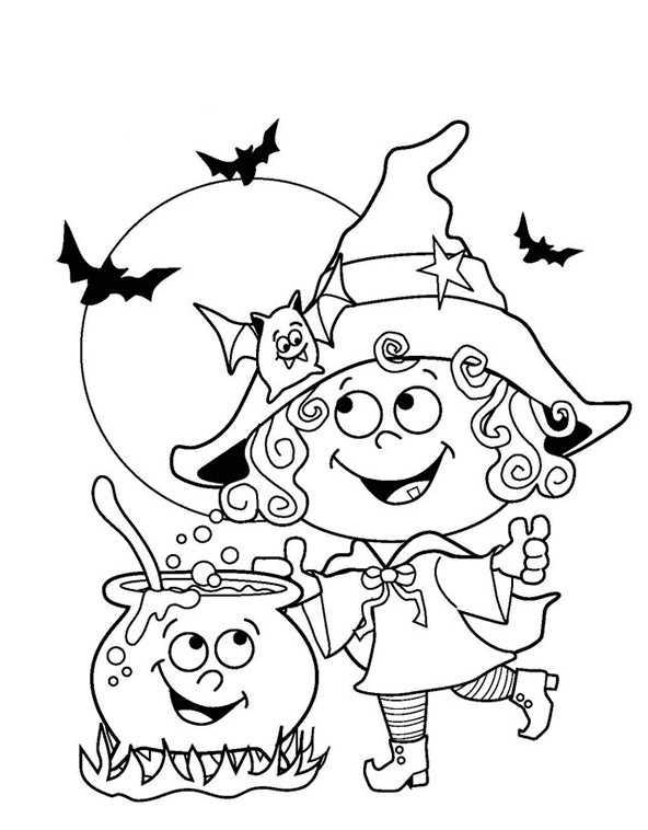 Ausmalbilder Hexe Halloween 29