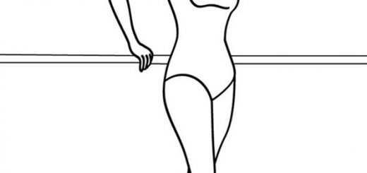 Ausmalbilder Ballerina. 1