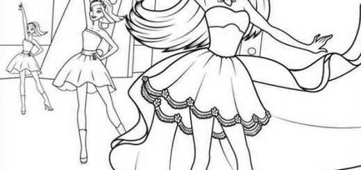 Ausmalbilder Ballerina. 2