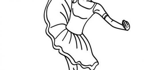 Ausmalbilder Ballerina. 3