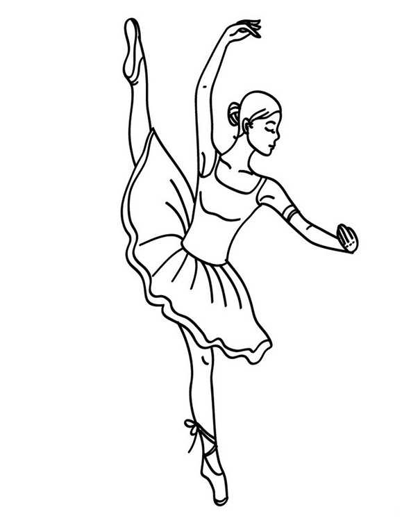 Ballerina (3) | Ausmalbilder Kostenlos