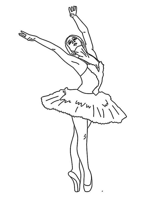 Ballerina (4) | Ausmalbilder Kostenlos