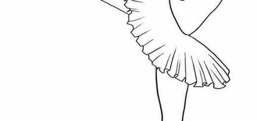 Ausmalbilder Ballerina. 5