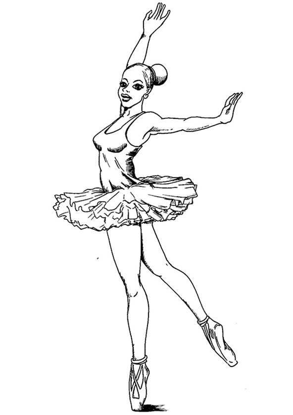 Ausmalbilder Ballerina. 6