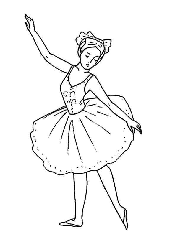 Ausmalbilder Ballerina. 7