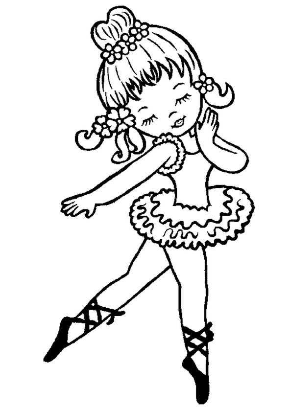 Ausmalbilder Ballerina. 8