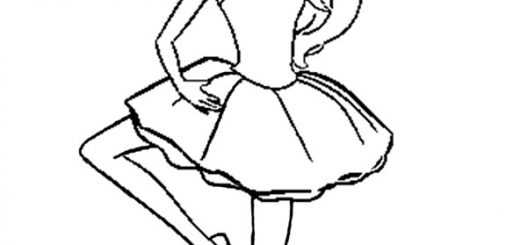 Ausmalbilder Barbie Ballerina. 9