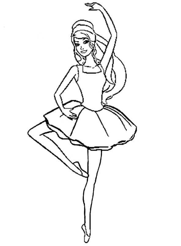 Ballerina 9 Ausmalbilder Kostenlos