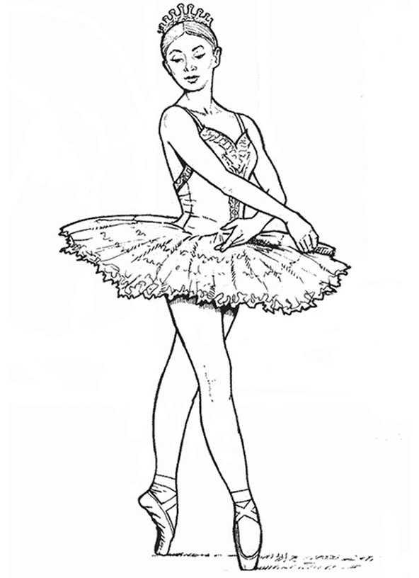 Ausmalbilder Ballerina. 11