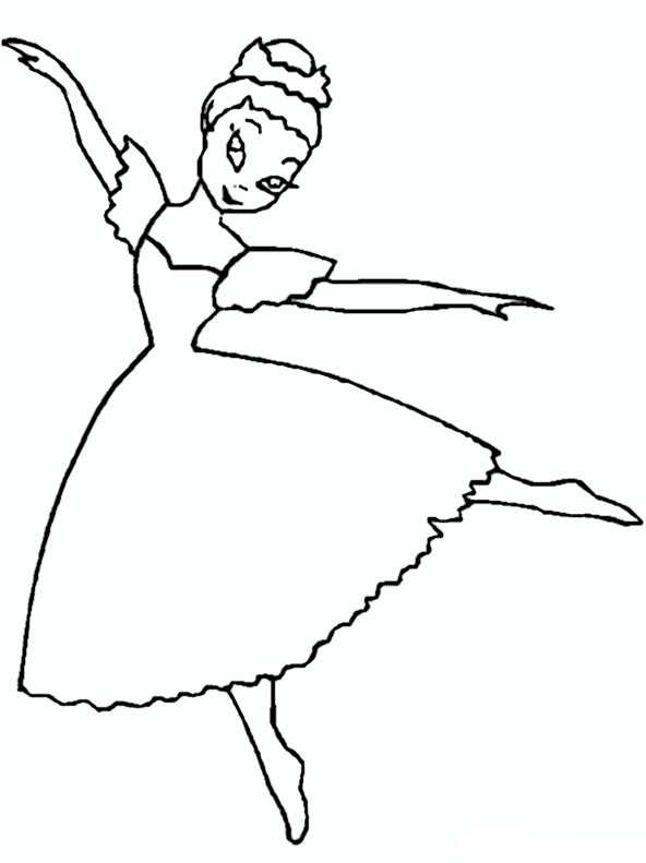 Ausmalbilder Ballerina. 12