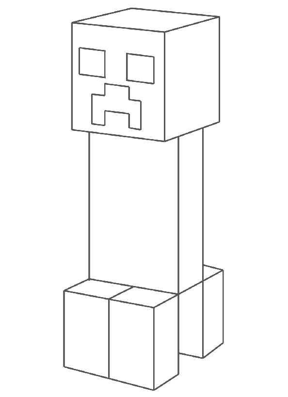 Ausmalbilder Minecraft 1