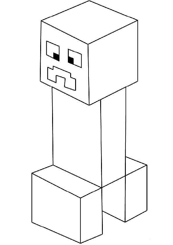 Minecraft 2 Ausmalbilder Kostenlos