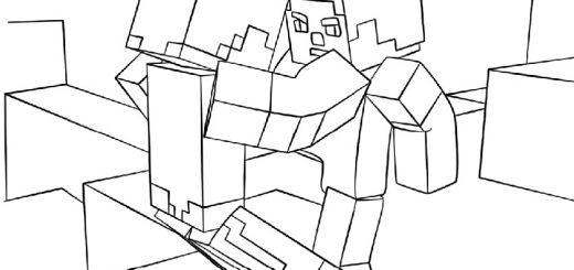 Ausmalbilder Minecraft 7