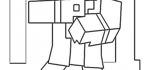 Ausmalbilder MInecraft 8
