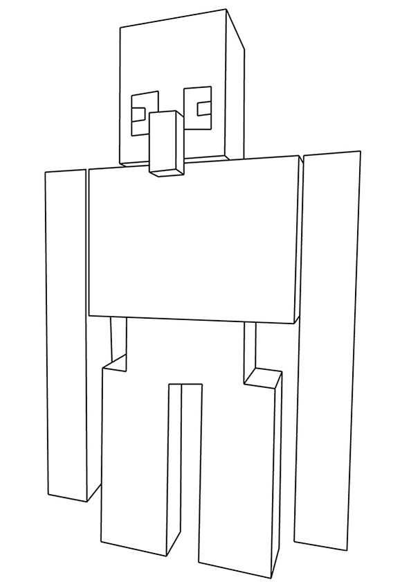 Coloring Pages Of Minecraft Stampylongnose