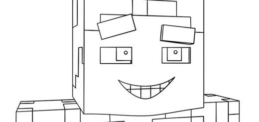 Ausmalbilder Minecraft 19