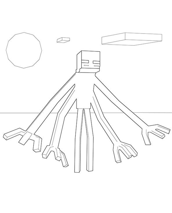 Ausmalbilder Minecraft 13