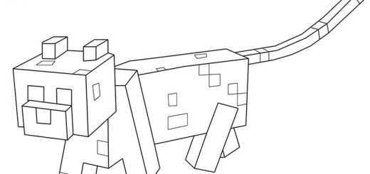 Ausmalbilder Minecraft 14