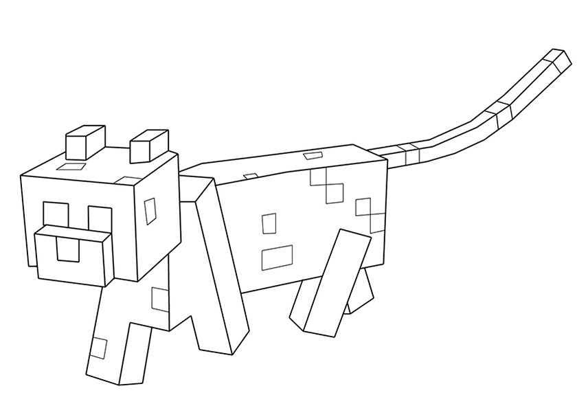 Minecraft 14 Ausmalbilder Kostenlos